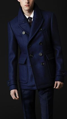 Classic Wool Pea Coat | Burberry