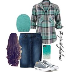 Apostolic Fashions #518 by apostolicfashions on Polyvore featuring maurices, Uniqlo, Converse and Whistles by StaceMakayla