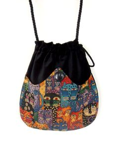 Cat Tapestry Bag Black Velvet Bag Boho Bag by piperscrossing Szabásminták  Ingyen fb64e2b651