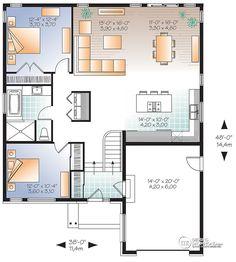 Détail du plan de Maison unifamiliale W3281