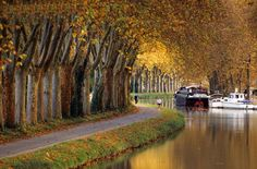 Canal du Midi in Autumn - is one of two canals that join the Atlantic to the Mediterranean - a place where I need to return - for a biking and barging journey.