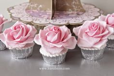 Rose cupcakes,