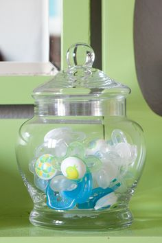 binky jar... great idea if you will be using them.