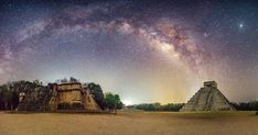 La mágica historia detrás de esta foto de Chichén Itzá bajo la vía láctea