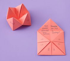 Share memories or details you love about her in this DIY fortune teller Mother's Day card.