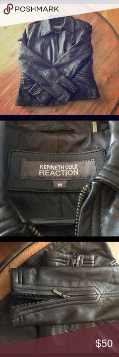 Selling this Kenneth Cole Leather Jacket on Poshmark! My username is: katema2sek. #shopmycloset #poshmark #fashion #shopping #style #forsale #Kenneth Cole #Jackets & Blazers
