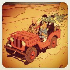 """The Land of Black Gold"" Tintin"