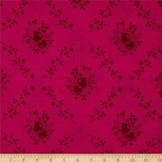 "108"" Wide Quilt Back Fleur Hot Pink from @fabricdotcom This 108'' wide quilt backing features a floral damask pattern. It is perfect for quilt backing, duvets, light curtains and more!"