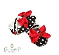 7cdee2c4fe2e Glitter Ladybug Baby Shoes, Ladybug Outfit, Ladybug Baby Shower, ladybug  1st birthday, baby photo prop