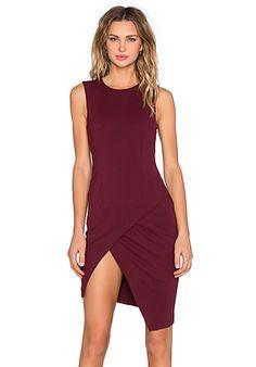 BLAQUE LABEL Asymmetrical Mini Dress in Wine   REVOLVE