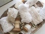 Lace & trim on wooden spools
