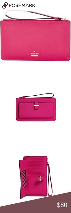 855e3dc595ef5 Kate Spade wallet wristlet Never used. Same color as pictures Cheaper on  other selling apps. Message me kate spade Bags Clutches   Wristlets