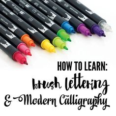 How to get started in Hand-Lettering, DIY, Crafts, Calligraphy