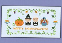 Thanksgiving sampler - PDF cross stich pattern