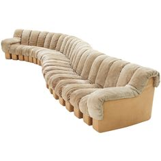 22 pcs De Sede DS-600 sofa in sand colored Suede wonderful condition ❤ liked on Polyvore