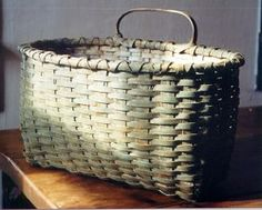 Black Ash Baskets, I love the washed out color green of this basket.