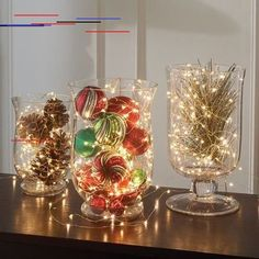 10 Dollar Store Christmas Decor Ideas - DIY for the Expensive House Look Don't let the holiday countdown stress you out–we're here to help you make the most of it! Diy Christmas Light Decorations, Holiday Centerpieces, Centerpiece Decorations, Holiday Decorating, Decorating Ideas, Table Centerpieces, Homemade Decorations, Wedding Decorations, Wedding Ideas