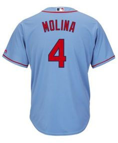 73cde5e71 Majestic Men s Yadier Molina St. Louis Cardinals Player Replica Cool Base  Jersey - Blue L