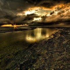 The Great Salt Lake, Utah. Sunset, rain, awesome clouds. Wow, i wish i took this picture.
