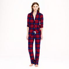 Plaid flannel pajamas for the holidays