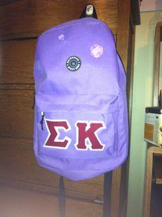 Sigma kappa backpack! #sigmakappa @Sigma Kappa Sorority #craft #crafty