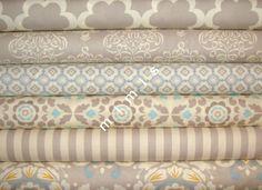 Taza Collection / Dena Designs Fabric / 6 Fat Quarter Bundle / NEUTRALS -Cotton Quilt Fabric - etsy