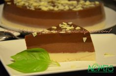 Tarta de 3 chocolates.