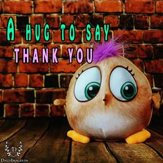 A hug to say thank you. #thankyou #ty #quotes
