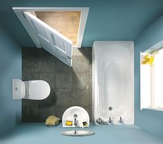 Balterley Petite Compact Bathroom Set in White