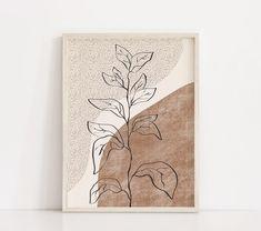 Botanical Printable Wall Art Digital Print Neutral Wall Art | Etsy Neutral Art, Printable Wall Art, Flower Art, Canvas Wall Art, Modern Art, Art Drawings, Abstract Art, Illustration Art, Art Prints