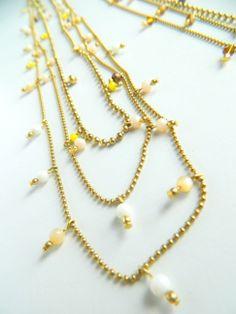 Arrow necklaces, three rounds. Natanè, jewels, necklaces