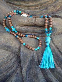 108 bead Sandalwood Mala from Mysore India with by alotusgirl