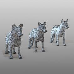 shepherd dog 3d model animated