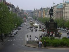 Part 2 of 'Prague : The Musical City'. Impressions on Prague's famous commercial and entertainment boulevard; Wenceslas Square.