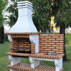 Rebel Without Applause Outdoor Garden Sheds, Outdoor Gazebos, Outdoor Decor, Barbecue Garden, Outdoor Barbeque, Patio Ideas Bbq, Barbeque Design, Brick Bbq, Outdoor Kitchen Design