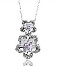 Wish | 18K White Gold Plated Pendant Necklace N388