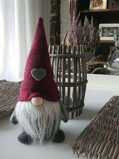 """IDEA. Christmas gnome ...""""…He sees you when you're sleeping, he knows when you're awake… He knows if you've been bad or good, so be good for goodness sake…"""" * * * * * * * * * * * * * * * * * * * * * * * * * * * * *"""