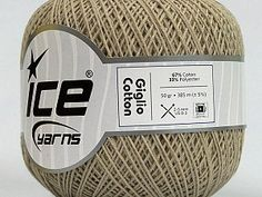 Giglio Cotton Beige  Fiber Content 67% Cotton, 33% Polyester, Brand Ice Yarns, Beige, Yarn Thickness 1 SuperFine  Sock, Fingering, Baby, fnt2-49635 Green Rose, Mint Green, Ice Cotton, Ice Yarns, Hand Knitting Yarn, Lion Brand Yarn, Cotton Lights, Dark Red, Serum