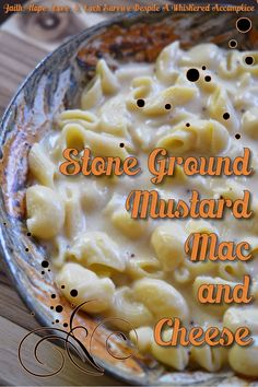 Stone Ground Mustard Mac and Cheese | Faith, Hope, Love, and Luck Survive Despite a Whiskered Accomplice