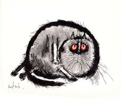 Ronald Searle's Cats, 1967  Gluttonous right-wing cat attempting to digest the left ing of a chicken