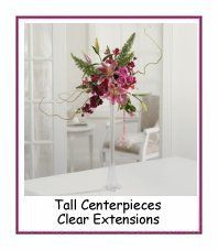 Tall Centerpieces for weddings and other events.  See thousands of photo ideas for decorating with flowers.  Free tutorials.