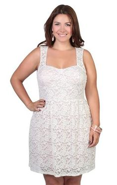 AL 12 - 1X 2X 3X Plus Size V Neck Crochet Cotton Sun Wedding Dress ...
