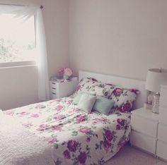 Der Bettnezug • Rosen • Kissen • weiß • pink • rosa ♡