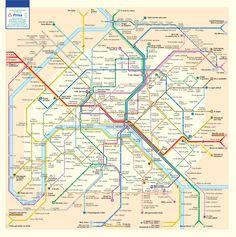 Anagram map of the parisian métro! fantastic