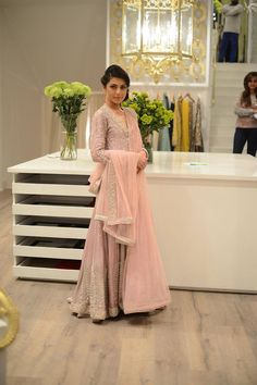 "highfashionpakistan: ""Nida Azwer showcased her ""Hyderabadi Collection"" at her boutique in Lahore. Love the color palette. """