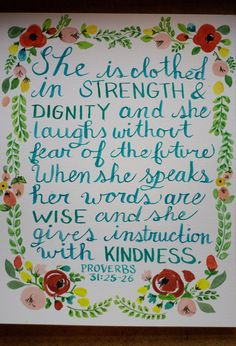 Proverbs 31 Watercolor Floral