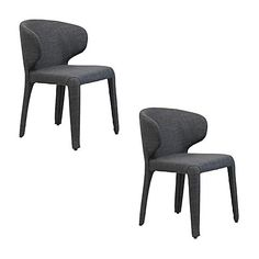 Marry your homely tableware with the cosy looks and soft-to-touch feel of the fully upholstered Bailey Dining Chair, Charcoal (Set of 2) from Satara.