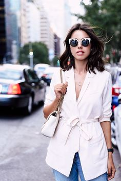 If it wouldn't overpower my frame/if it would flatter, maybe a wrapped, belted soft style - SOFT BLAZER & GUCCI GG MARMONT