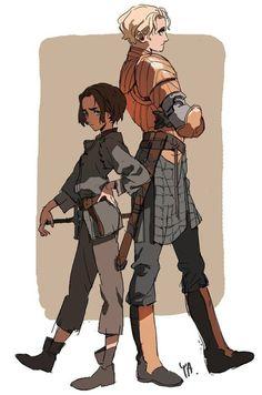as-warm-as-choco:  Kim Il Kwang(Avatar animator) illustrated Arya and Brienne !