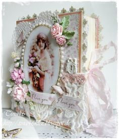 Live & Love Crafts' Inspiration and Challenge Blog: Shabby Book Card